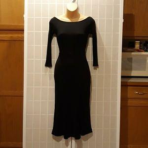 FREE PEOPLE BEACH Ribbed Knit Sexy Black Dress XS